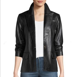 NWT Ralph Lauren Genuine Black Leather Jacket